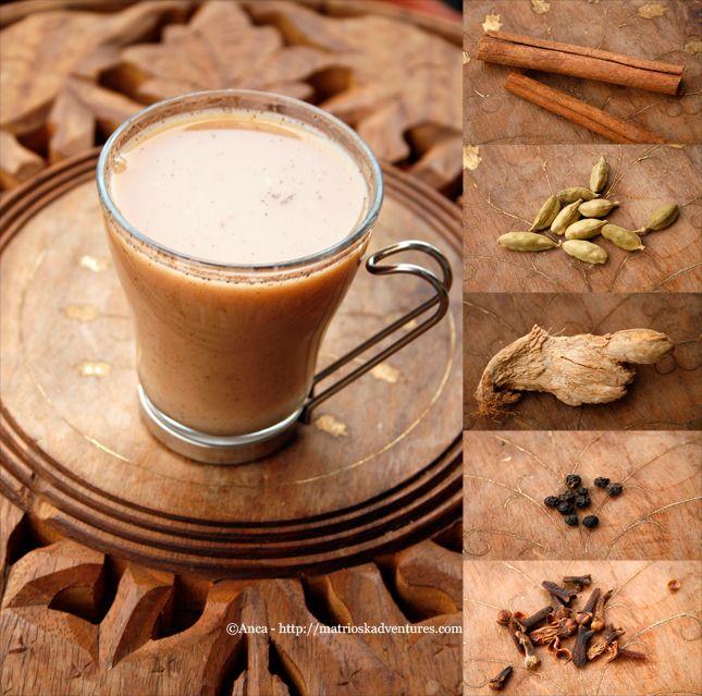 Masala chai tè speziato indiano - Ceai indian cu mirodenii  http://matrioskadventures.com/2013/01/15/masala-chai-te-speziato-indiano-ceai-indian-cu-mirodenii/