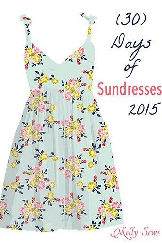 STITCHED por Crystal: Simple Vestido de tirantes de verano - 30 Días de Sundresses