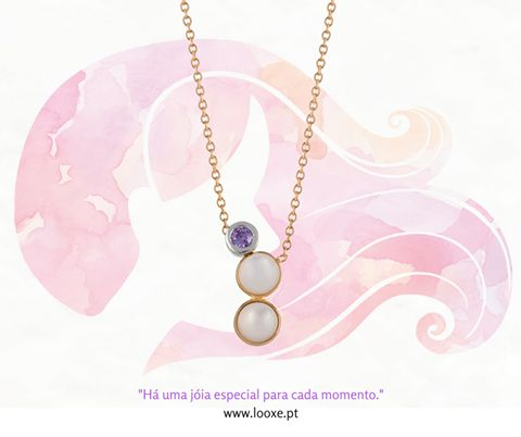 """Há uma jóia especial para cada momento."" // ""There is a special piece of jewelry for every moment."" COL5118 http://bit.ly/2cl9XTJ #looxe #looxejewelry #ouro #colar #colarlooxe #joias #moda #gold #necklace #necklacelooxe #jewelry #fashion"