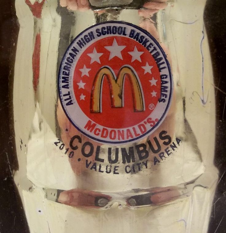 McDonald's All American High School Basketball Game 2010 Gold Coca-Cola Bottle  #CocaCola