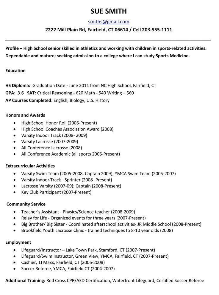 High school resume template 2018 high school resume