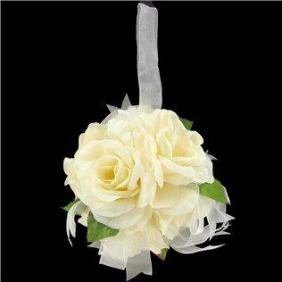 his hers 6 ivory rose ball with sheer ribbon shop hobby lobby wedding churchwoodsy weddingwedding decorationsshepherds