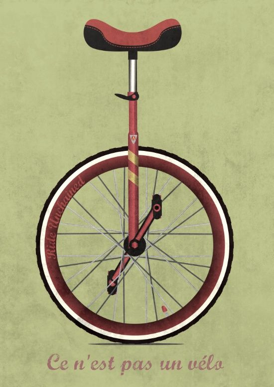 Unicycle Art Print