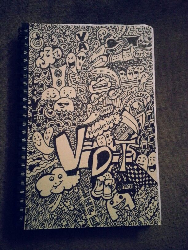 Doodle diary cover page