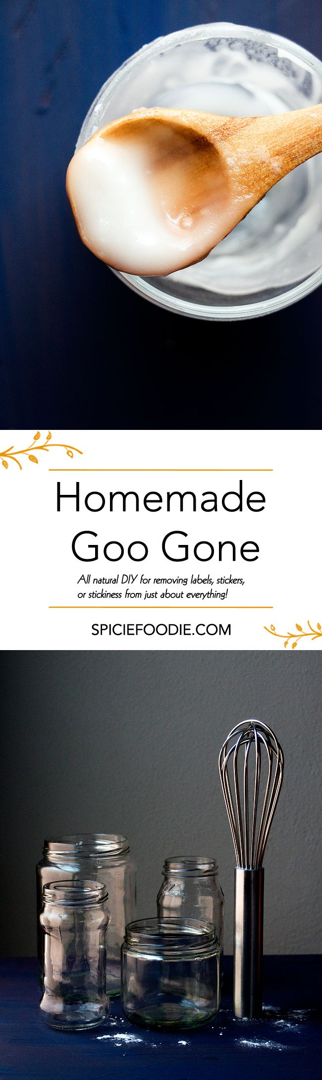 Homemade Goo Gone | All #natural DIY for removing labels, stickers, or stickiness from just about everything!