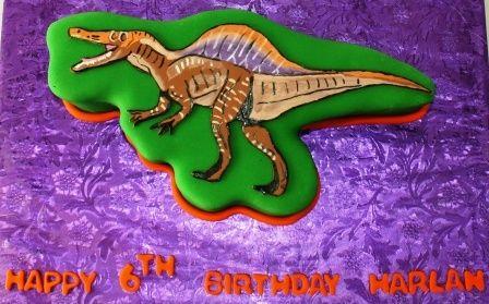 6th birthday cakes spinosaurus and cake birthday on pinterest