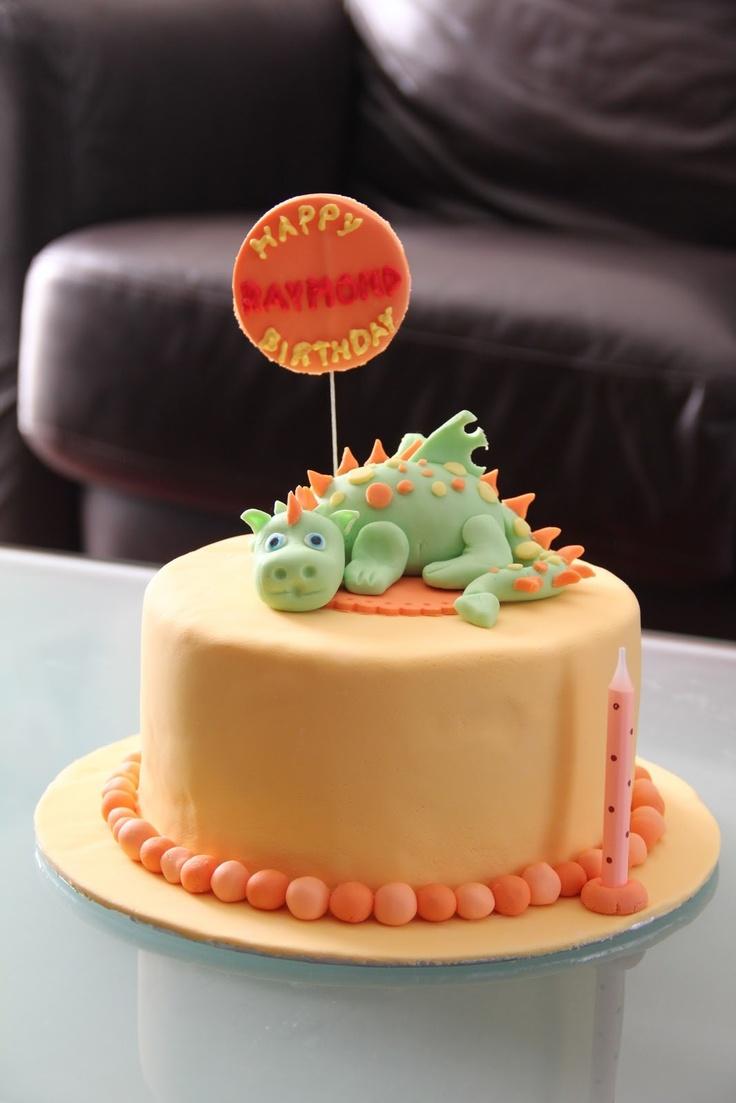 Cute Dragon Birthday Cake