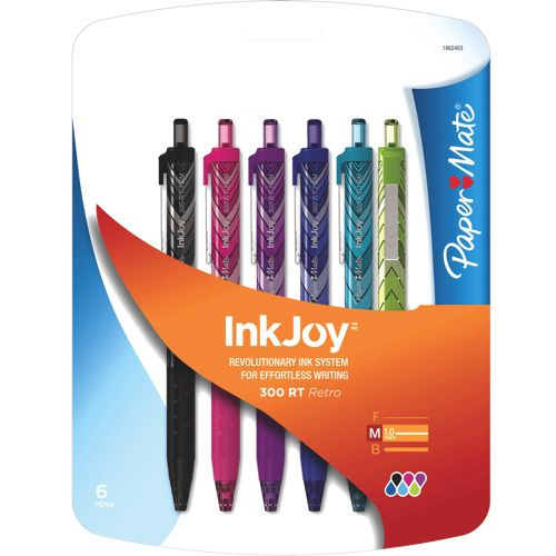 This 6 pack of Paper Mate InkJoy 300 RT Ballpoint Pens I will never leave the classroom without! Love it!! #SetMeUpBBY