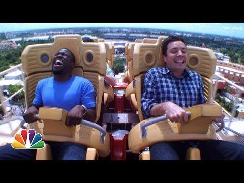 When Jimmy Fallon found out Kevin Hart hated roller coasters, naturally he decided to take him on one and film it, with hilarious results. | Kevin Hart Totally Loses It When Jimmy Fallon Makes Him Ride A Roller Coaster