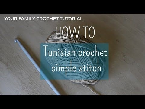 Tutorial   How to do the Tunisian crochet simple stitch. #Crafts #Tutorial #SouthAfrica