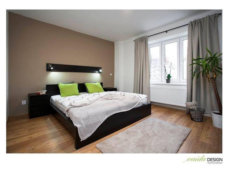 Moderná spálňa v prírodných farbách