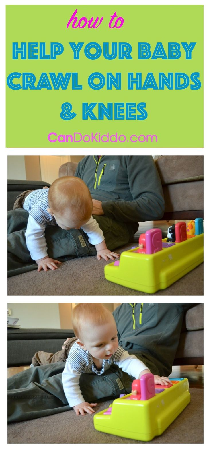 For the commando crawlers, bottom scooters and other babies with less-traditional means of getting around. Tips from an OT mommy. CanDo Kiddo