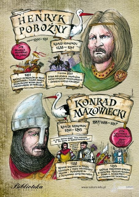 Konrad I Mazowiecki i Henryk i Pobożny
