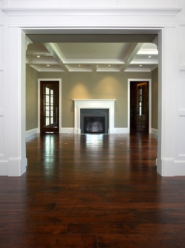 Dark Wood Floors Light Medium Wall Color And The Detail Of Walls In