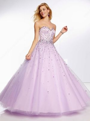 Ball Gown Sweetheart Tulle Satin Floor-length Rhinestone Quinceanera Dresses -�175.09  Oh my gosh, gorgeous.