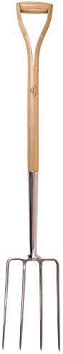 Esschert Design USA GT24 Wooden Handle Pitch Fork >>> Click image to review more details.