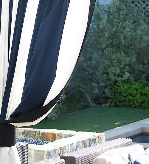 Hand Made Outdoor Drapes and Roman Blinds on Sale | DrapeStyle | 800-760-8257