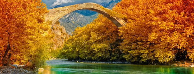 River in Konitsa, Northern Greece. The autumn is beautiful in Greece . Read here some good tips for this season: http://www.omilo.com/autumn-in-greece/