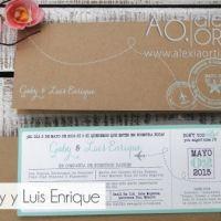 Invitaciones de boda tipo pase de abordar / invitaciones de boda / wedding invitations