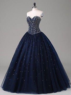 ts couture® noche formal del vestido de una línea de tren palabra de longitud satinado / tul con cuentas
