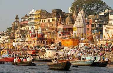 Take a flight to Varanasi in the morning. On arrival in Varanasi, leave for a excursion to Sarnath. Afternoon is spent sightseeing Varanasi city. Visit Bharat Mata Temple, Monkey Temple etc. Overnight at the Hotel.