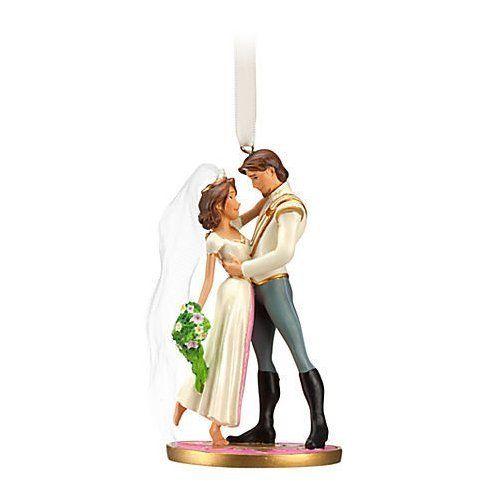 Disney 2012 Princess Wedding Tangled FLYNN & RAPUNZEL CHRISTMAS TREE  ORNAMENT
