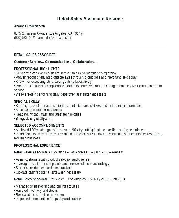 Cv Examples For Retail Jobs Uk Elegant Collection Resume Examples