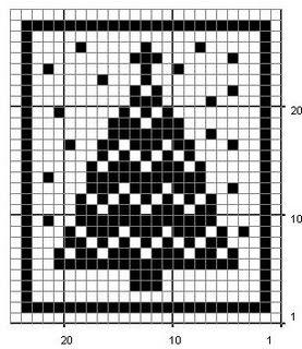 Inspired Crochet Design: Christmas Tree Filet (small) #freefiletcrochet