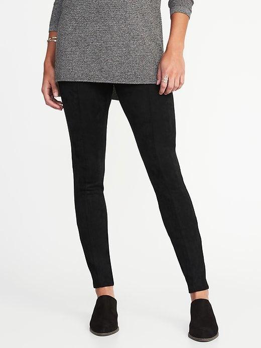 f69146a8ea43 Old Navy Women's High-Rise Stevie Faux-Suede Ponte-Knit Pants Black Regular  Size XXL