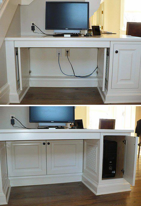 Disguise desk cables with cabinets and chill.