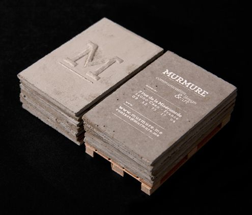 Concrete Business CardsIdeas, Identity, Cards Design, Business Cards, Inspiration, Murmuration, Concrete Business, Graphics Design, Brand