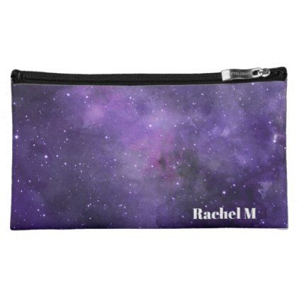 Personalized Name Galaxy Pattern Ultra Violet Makeup Bag - elegant gifts gift ideas custom presents