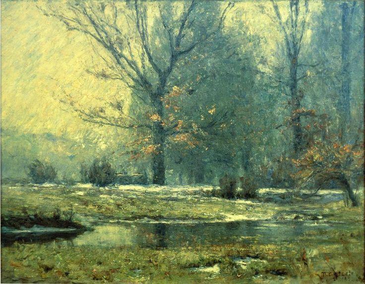 Art Renewal Center :: Theodore Clement Steele :: Creek in Winter