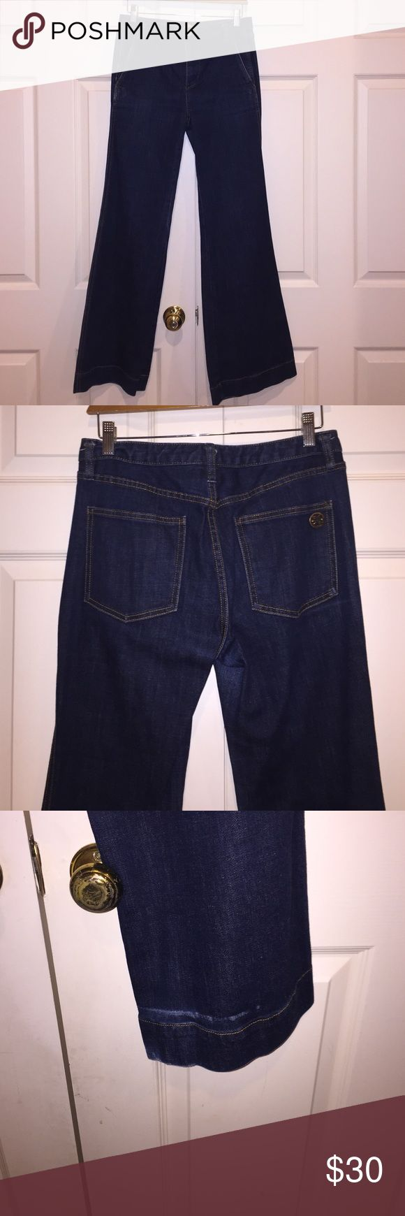 Tory Burch Flare Leg jeans Pair these jeans with a tunic or a slim fitting top for a 70's vibe that Tory is known for!  I kept these in great condition, just a little wear towards the bottom.  Reasonable offers will be accepted! Tory Burch Jeans Flare & Wide Leg