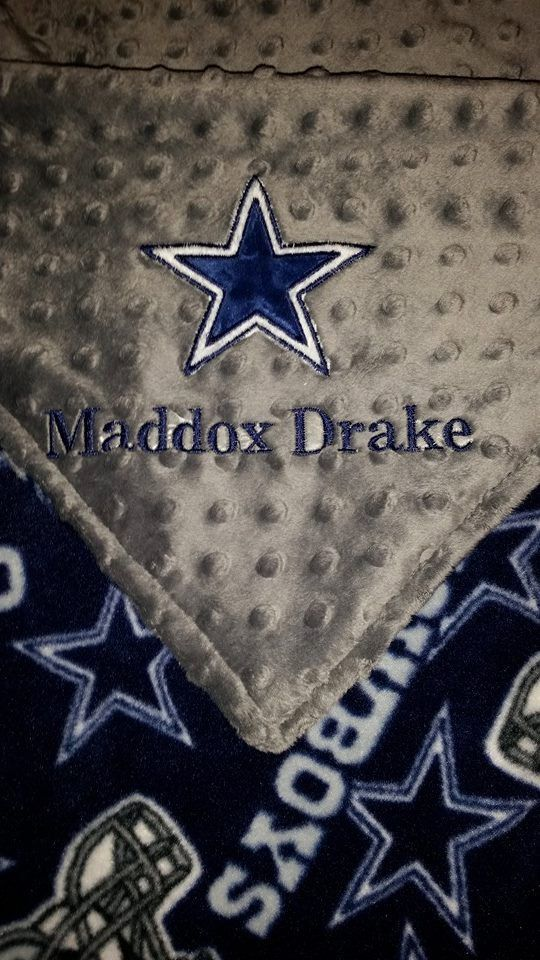 The 25 best dallas cowboys blanket ideas on pinterest dallas personalized dallas cowboys baby blanket by gunnybunnyboutique negle Gallery