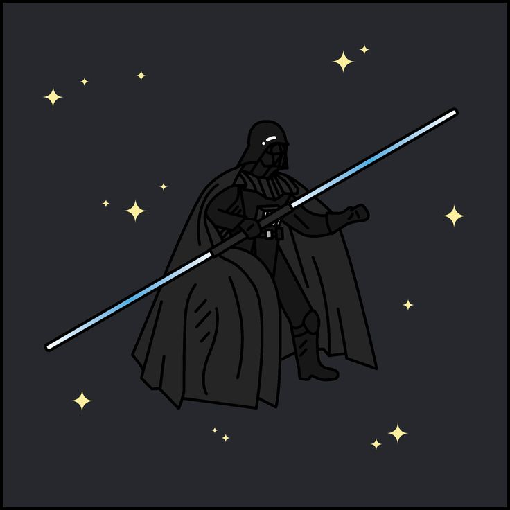 #STARWARS #Darth_Vader  #Line #Illust #Artwork