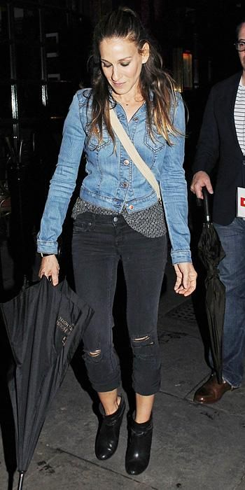 23 Ways to Style a Denim Jacket, Inspired by the Stars - Sarah Jessica Parker from #InStyle