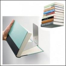 Onzichtbare boekenplank voor de mooiste kookboeken! Leuk voor in de keuken.