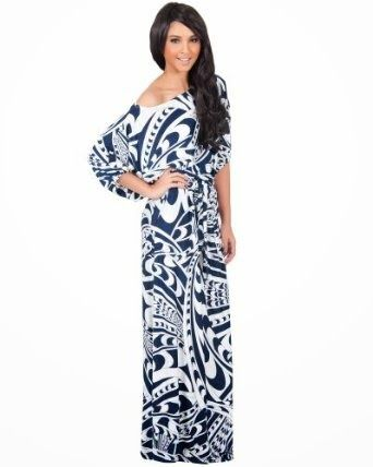 blue maxi dress: blue and white maxi dress