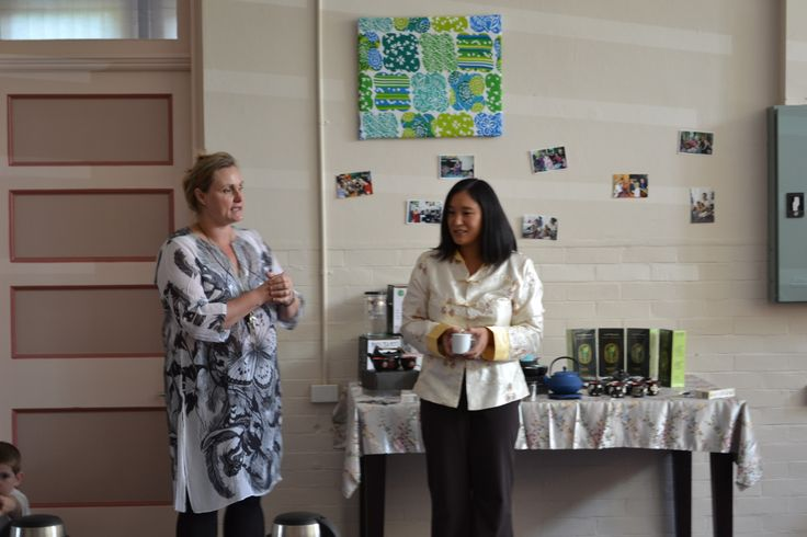 May King Tsang speaking at the Pyjama Foundation about all things tea.
