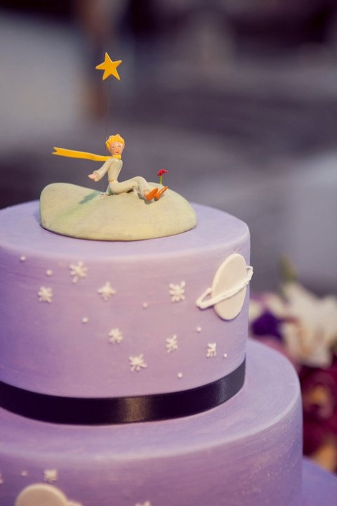 the cake - the topper isn't edible ;)