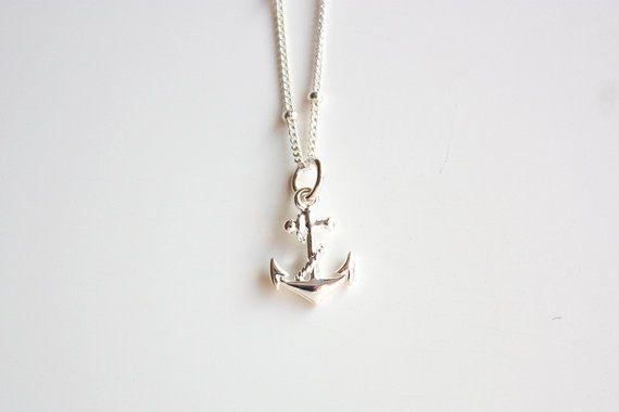 Collier ancre en argent sterling collier par ShopDaisyJewelry