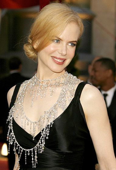 At the 2008 Academy Awards, Nicole Kidman was dripping in diamonds, wearing a custom-made, 1,400-carat, $7 million necklace by L'Wren Scott.