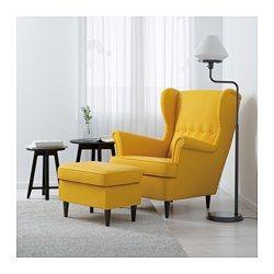 IKEA - STRANDMON, Fauteuil à oreilles, Skiftebo jaune, , Garantie 10 ans. Détails des conditions dans le livret Garantie.