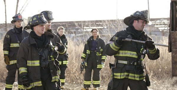 David Eigenberg, Lauren German, Monica Raymund and Taylor Kinney in Chicago Fire picture - Chicago Fire picture #4 of 62