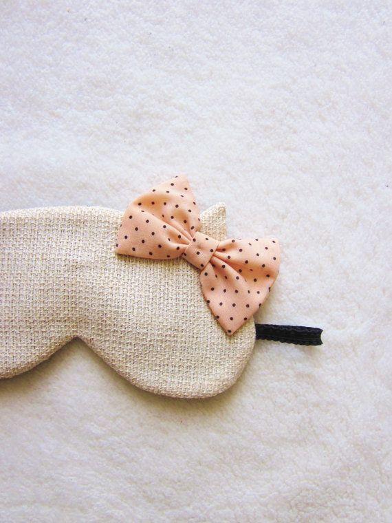 Fancy Cotton Tweed Cat Eye Mask. Sleep
