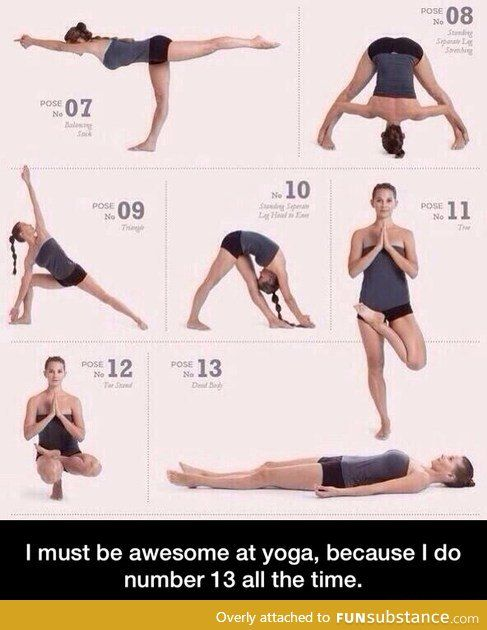 Awesome at yoga