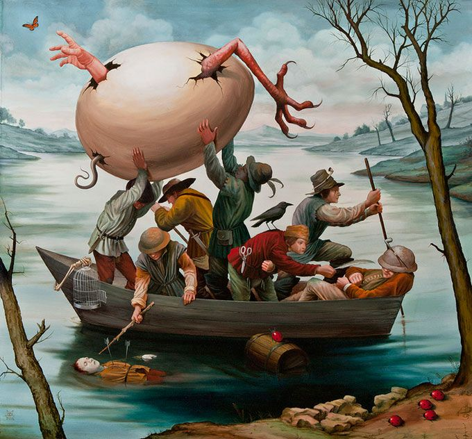 Reminds me at Jeroen Bosch....,surrealisme-van-Mike-Davis