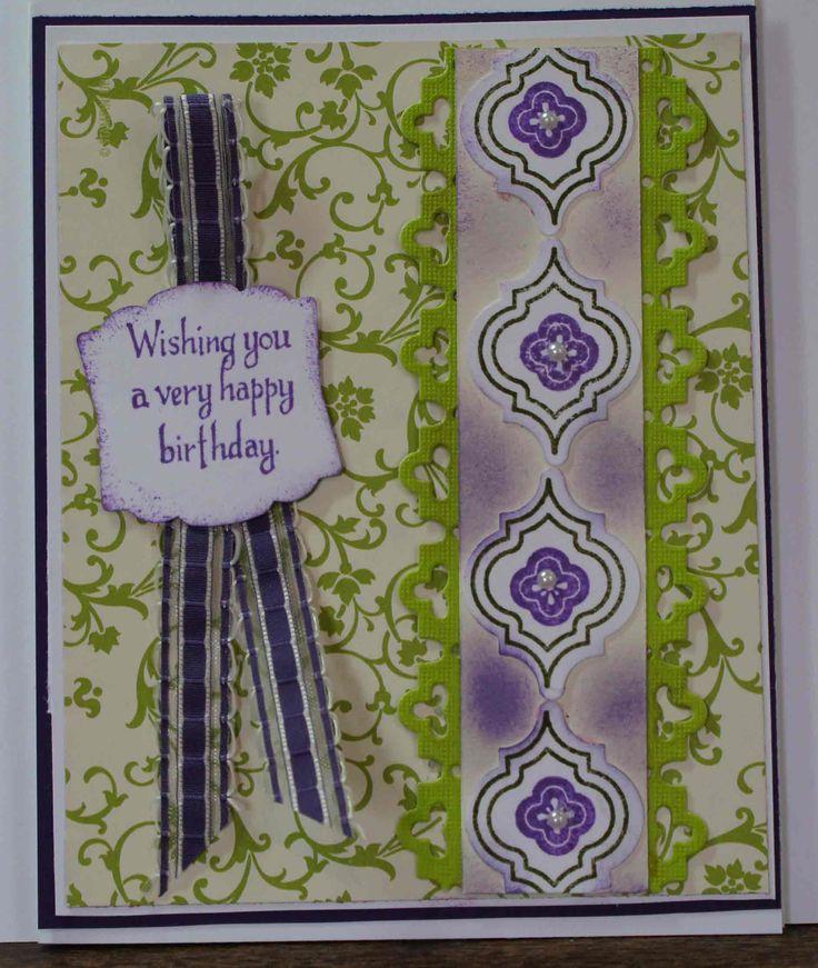 Stampin Up Mosaic Madness handmade card