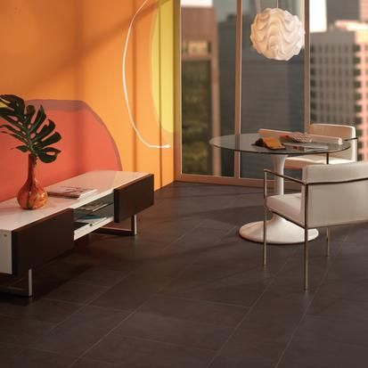 Best Contemporary Dark Brown Tile Floor For Office Or Living 400 x 300